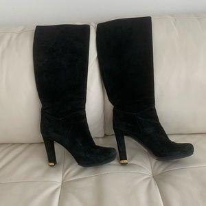 """""""LOUIS VUITTON"""" Gorgeous Black Suede Boots"""